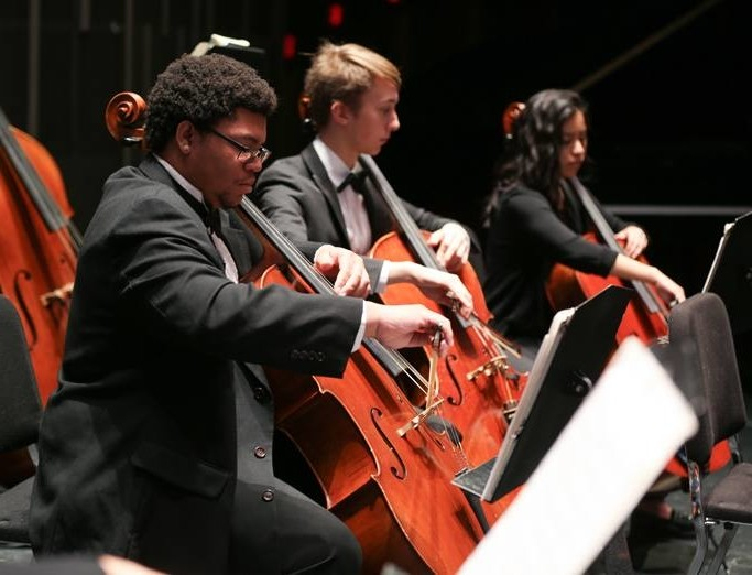 School of Music orchestra performance.