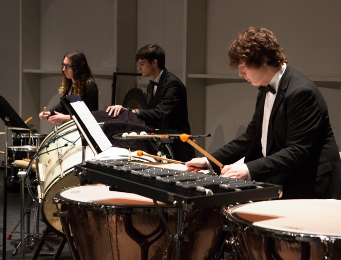 School of Music student performance on Timpani drums.