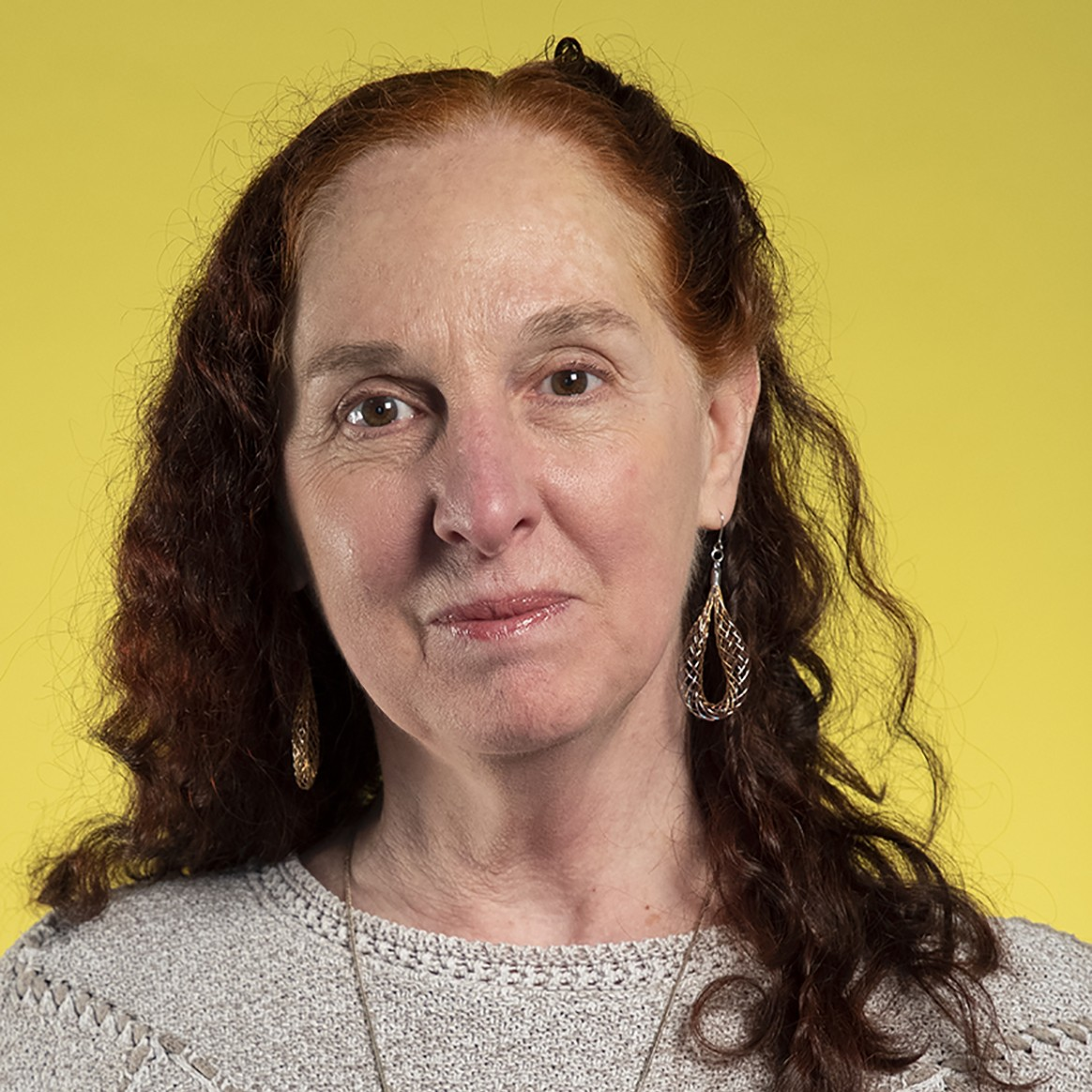 Karen Keifer-Boyd's headshot against yellow background.