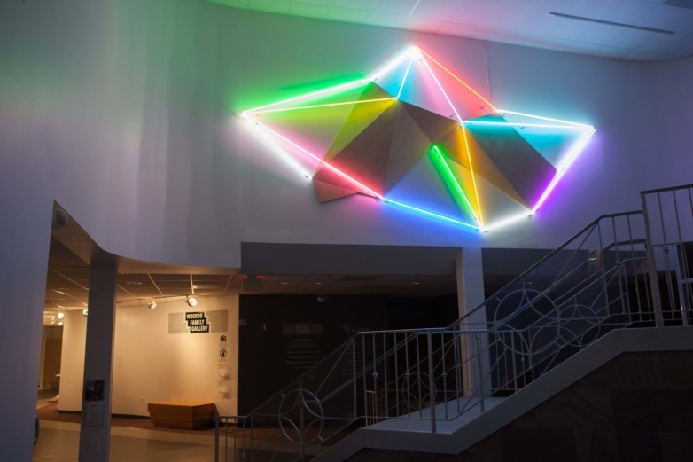 Keith Lemley's light installation on the Woskob Wall