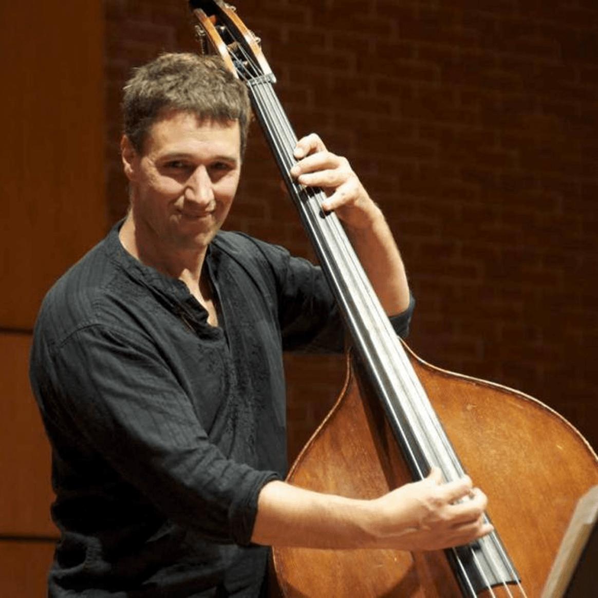 Portrait of Penn State Lecturer of Double Bass Joshua Davis