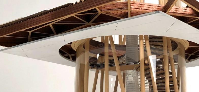 Fourth-year architect model work.