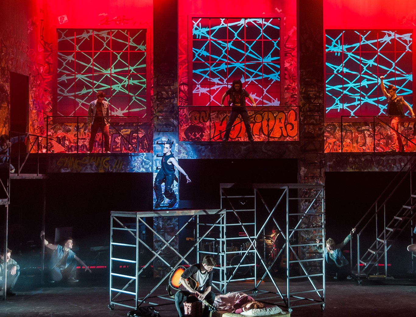 Penn State's School of Theatre production of American Idiot, the musical inspired by Green Day's seventh album of the same name, at the Playhouse Theatre.