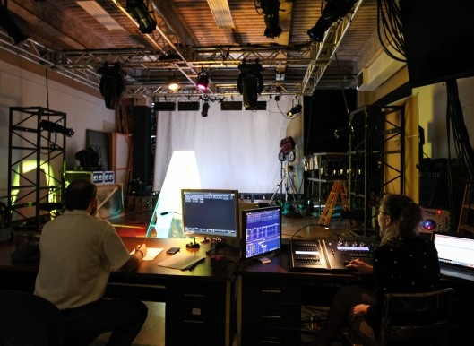 Students present their final projects for William Kenyon's Lighting Design course.