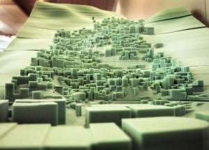 Photo of a scale-foam model of Scale model of Rio de Janeiro, Brazil.