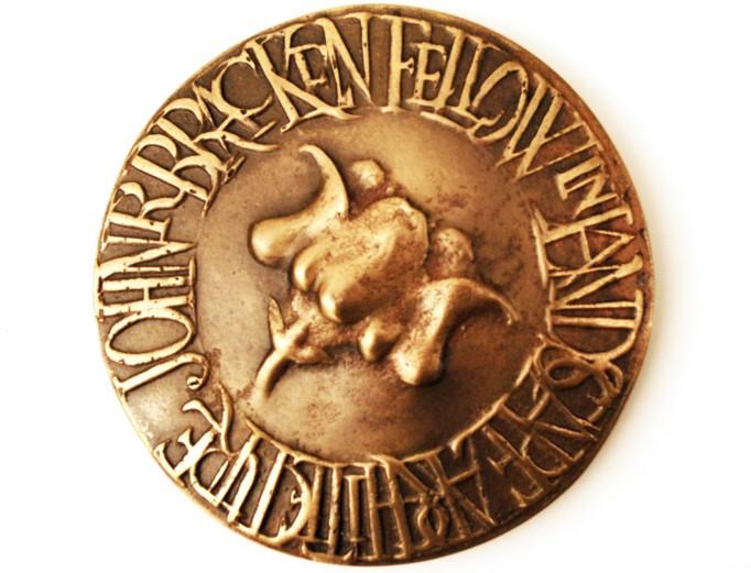 John R. Bracken Fellowship medal from the Department of Landscape Architecture