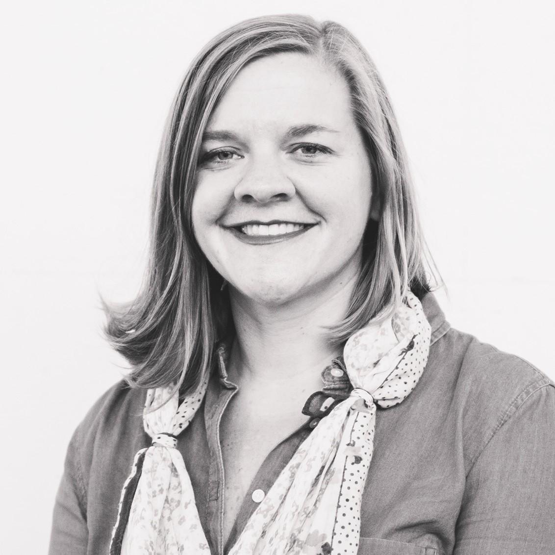Black and white portrait of Heather Ligler