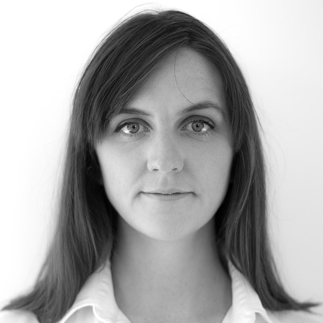 Black and white portrait of Zannah Matson