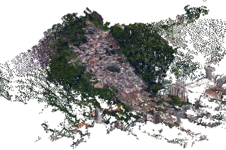 3D scanned image of the favela Santa Marta, Rio, by Debora Verniz.