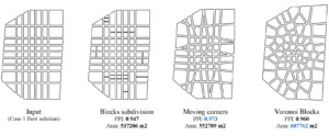 Optimization of urban layouts following a variety of generative strategies. Faculty: Fernando Lima, Nate Brown, Jose Duarte.