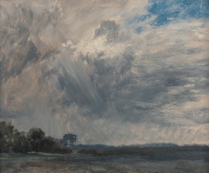 John Constable, 1776–1837, British, Study of a Cloudy Sky, ca. 1825, Oil on paper on millboard, Yale Center for British Art, Paul Mellon Collection, B1981.25.124