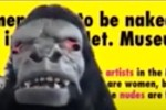 """Video screen capture of """"Frida Kahlo"""" –a founding member of the Guerrilla Girls – from the Arts and Architecture """"Movers, Shakers, Designers, Makers"""" video interview series."""