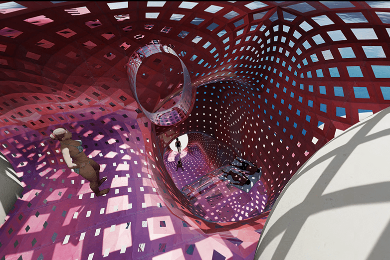 Excerpted rendering from Zainab Hanzakian's 2020 award-winning project.