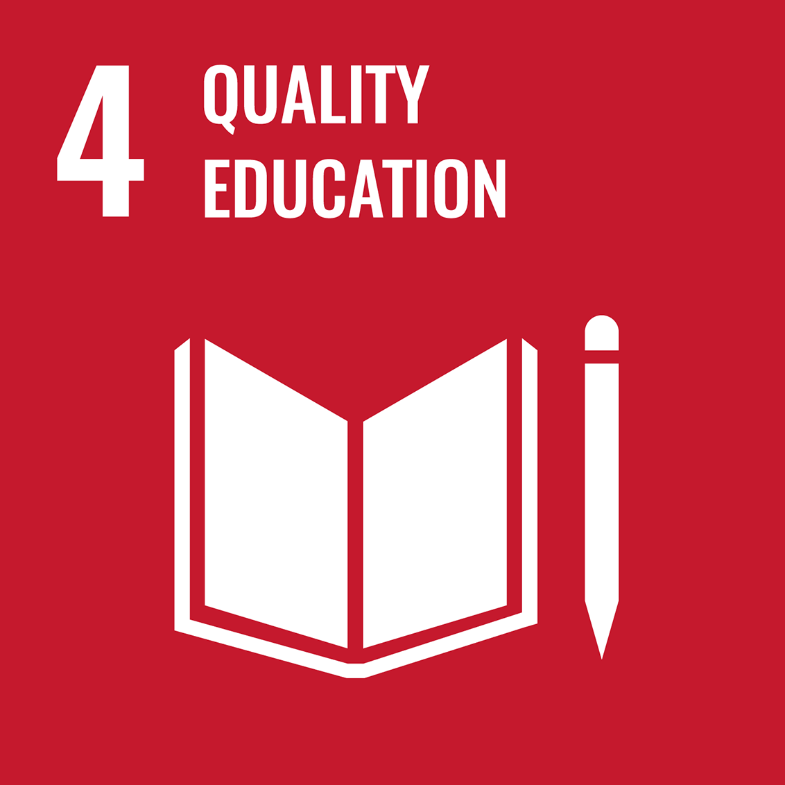 Icon for the UN Sustainable Development Goal 4