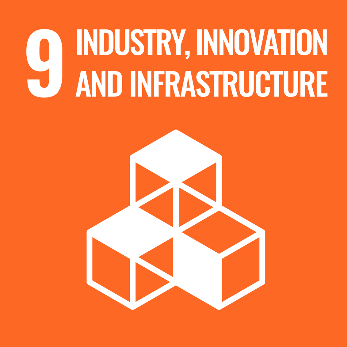 Icon for the UN Sustainable Development Goal 9